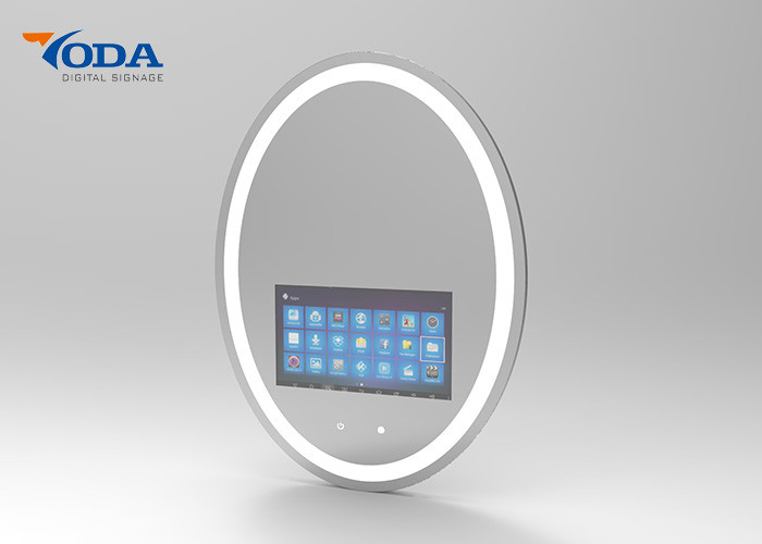 Round shape Touch Screen Smart Mirror 1280 * 800P Resolution 10 . 1Inch