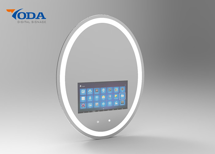 Oval Multi Function Touch Screen Smart Mirror 178 / 178 Viewing Angle