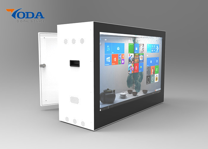 Custom Color Transparent LCD Showcase 576 * 368MM Aluminium Housing