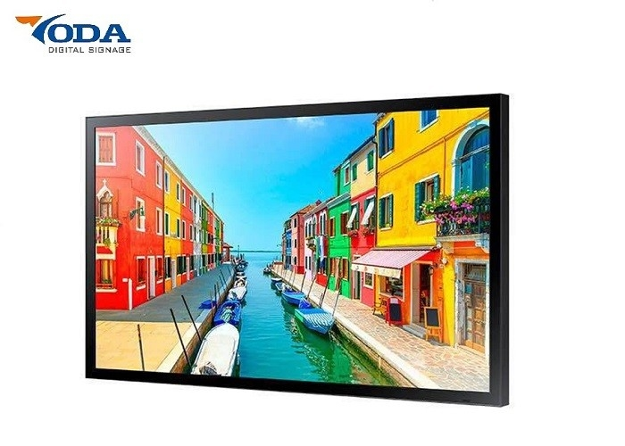 X86 Outdoor LCD Display , Digital Advertising Screens 0 - 60℃ Operating