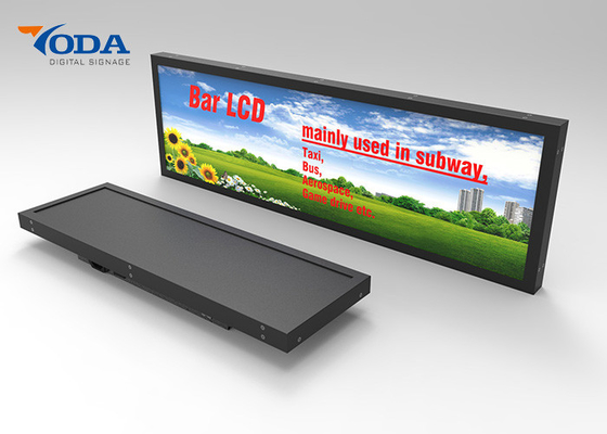 China High Brightness Stretched Bar LCD Displays For Bus / Shelf  LCD Display factory