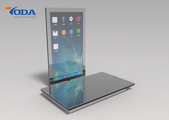 China IR Touch Screen Makeup Mirror , Tempered Glass Smart Mirror Monitor factory