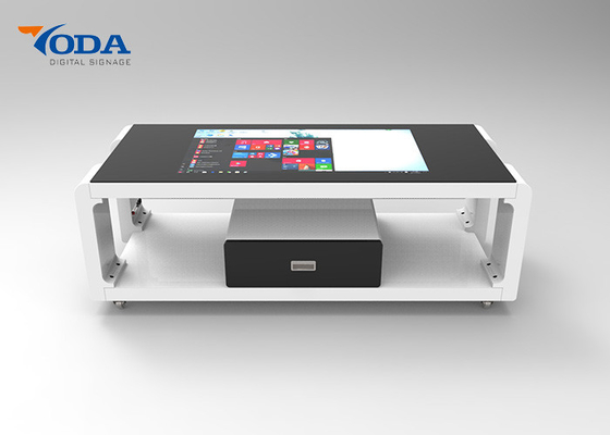China 43Inch/55Inch/Customized Size LCD Touch Screen Table Capacitive Touch With Drawer factory
