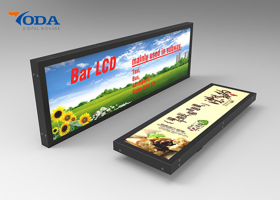 Customized Size Stretched Display Screen , High Brightness LCD Advertising Display
