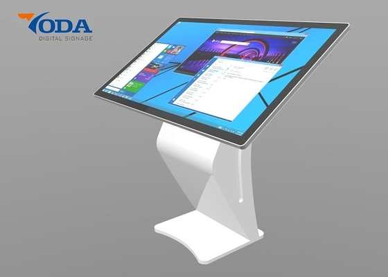 Floor Standing LCD Touch Screen Kiosk Full HD With Windows I3 For Airport