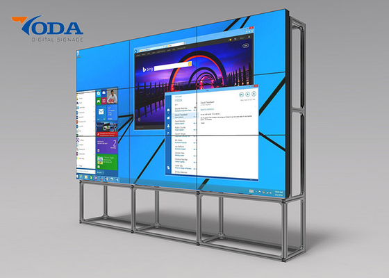 China 3.5MM Bezel LCD Video Wall Display 75 Inch 500cd/m2 Brightness 12 Months Warranty factory