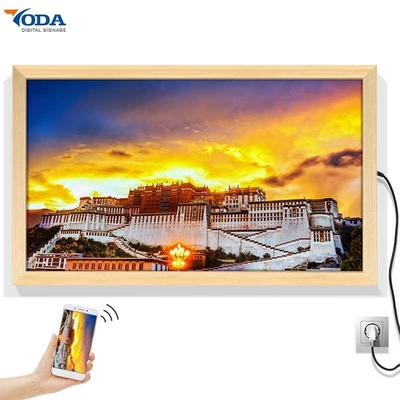 Wood Smart Digital Picture Frame Widescreen 1920*1080P Android OS Opening System