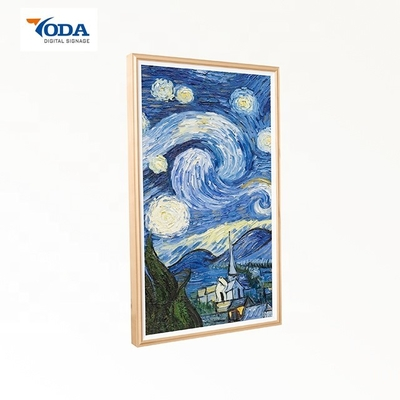 China Ash Wood Wireless Digital Picture Frame 1920*1080P Full View Angle On Wall factory