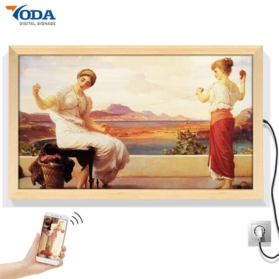 200 Watt Wooden Photo Frame , Wooden Painting Frame With Video Music Bluetooth