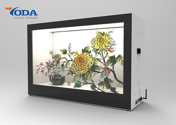 Touch Screen Transparent LCD Showcase Display , Ultra Thin LCD Transparent Monitor