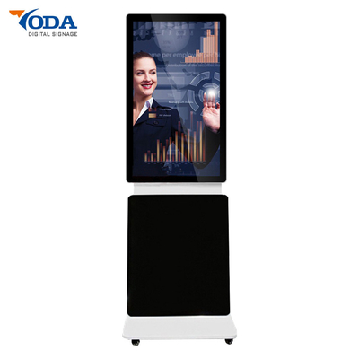 Floor Stand 360 Degrees Rotating Touch Screen Windows Digital Signage Kiosk