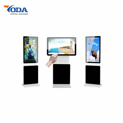 Aluminum Frame Floor Stand Digital Signage Monitor Window Touch Screen 55 Inch