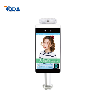 "10.1"" Face Recognition Access Security Solution Non-contact Camera Control Temperature"